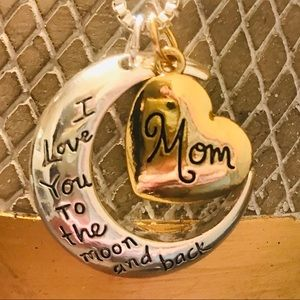 I  Love You TO THE MOON & BACK MOM Necklace